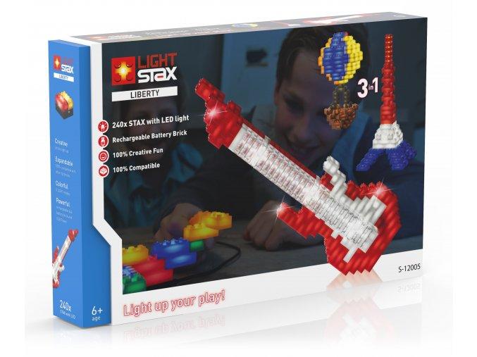 Light Stax Liberty - 3 v 1 - 240 svítících kostek
