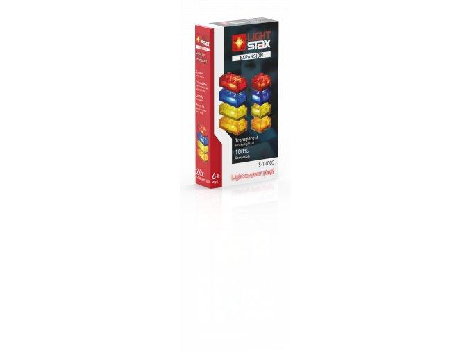 Light Stax rozšiřující set - průhledná - červená, oranžová, žlutá, modrá