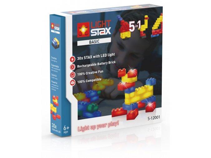 Light Stax Basic - 5 v 1 - 30 svítících kostek