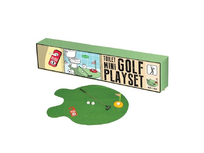 Mini toilet Golf playset (záchodový mini golf)