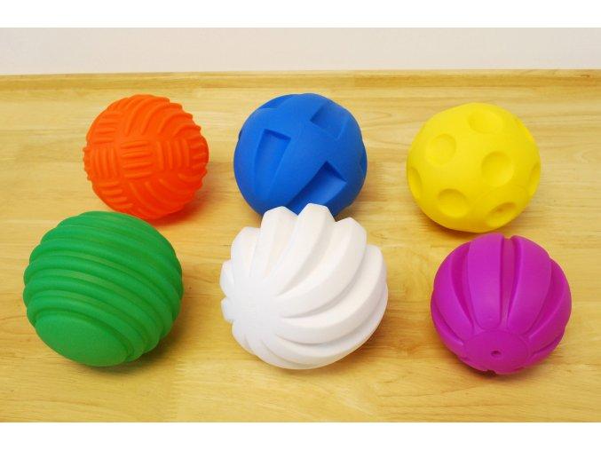 Smyslové úchopové míče (Tactile balls PK6)