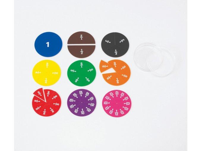 Fraction Circles Printed / Barevné zlomky v kruhu