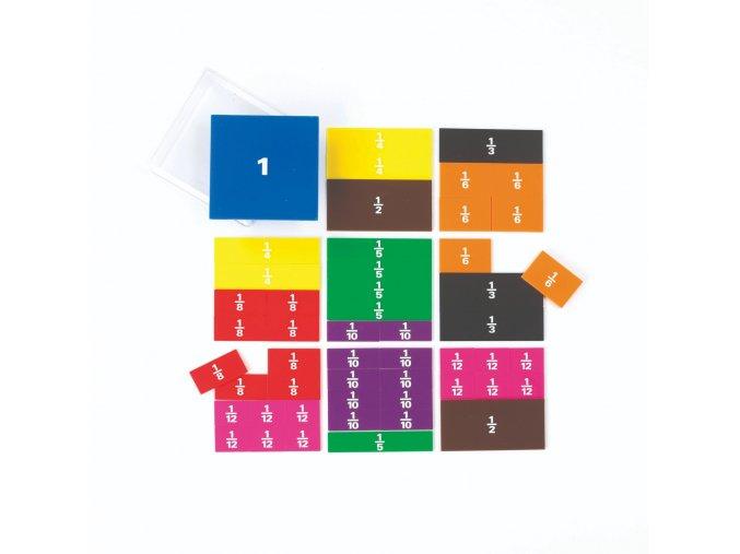 Fraction squares-printed / Barevné zlomky čtverce