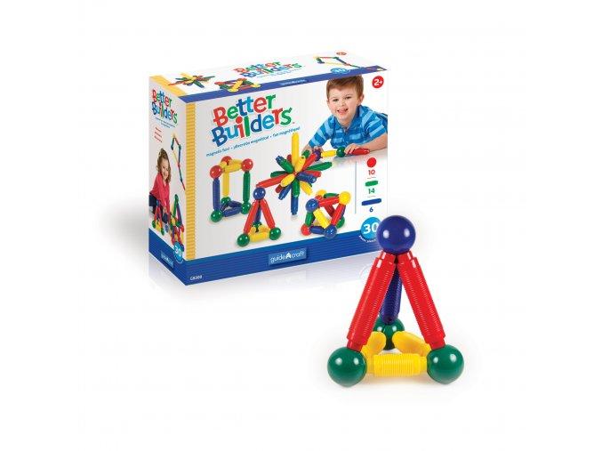 Magnetická stavebnice malý stavitel / Better Builder - set 30 ks
