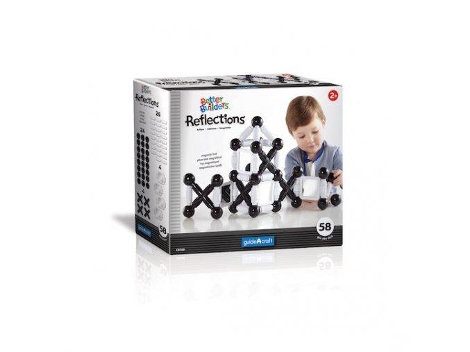 Magnetická stavebnice malý stavitel - odrazy / Better Builders Reflections set 58 ks