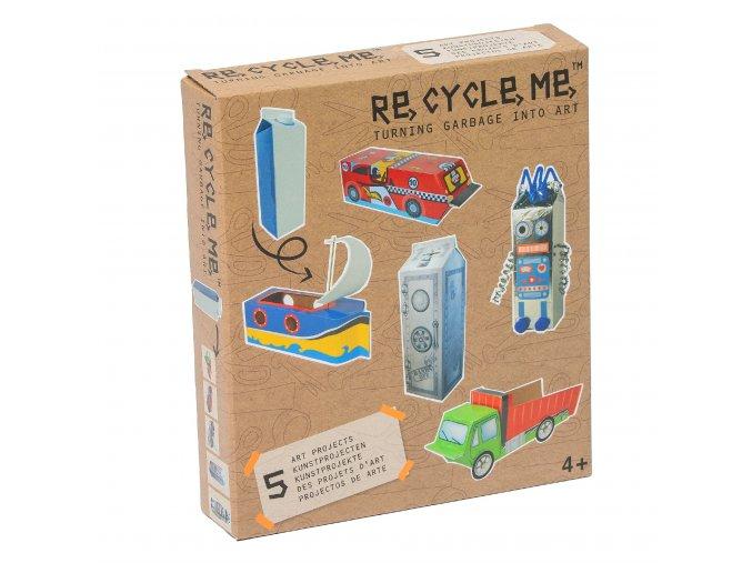 9713 set re cycle me pro kluky krabice od mleka