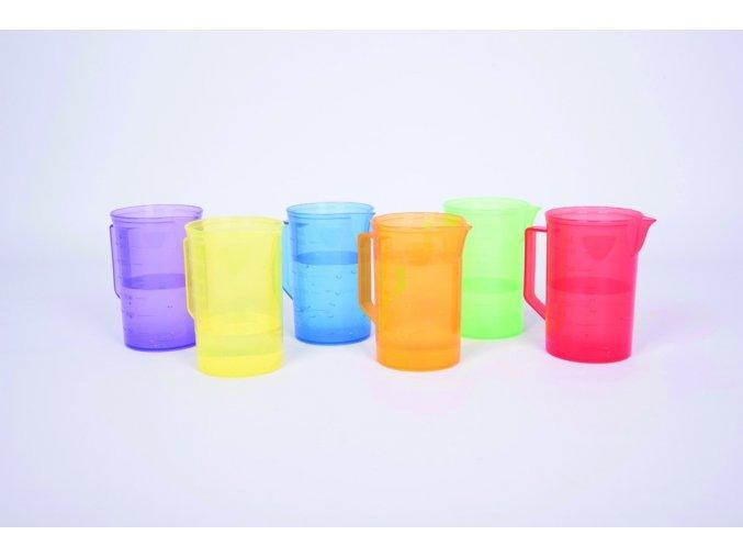 Barevné džbány (translucent colour jug set)