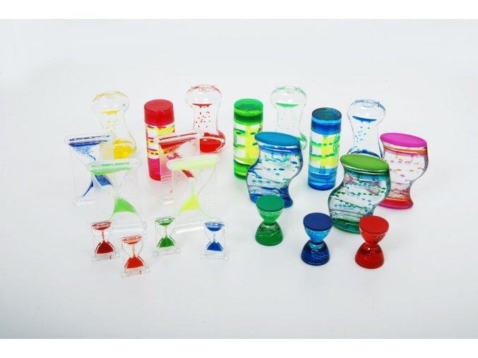 Sada objektů s barevným olejem (sensory liquid starter pack)