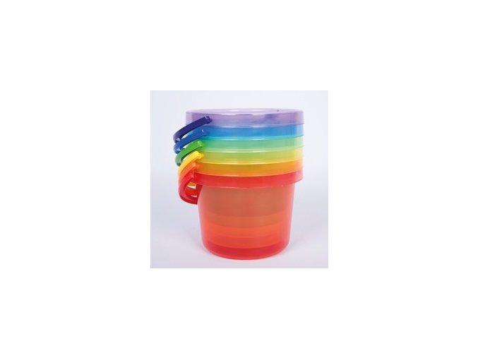 Transparentní barevný kyblík na vodu / Translucent colour buckets