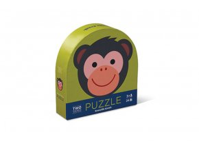 Puzzle Round 2-sided - Monkey Friends (24  pcs)