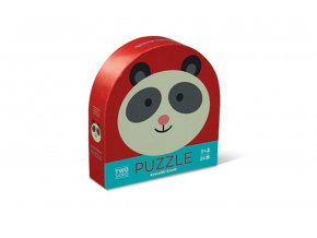 Puzzle Round 2-sided - Panda Friends (24  pcs)