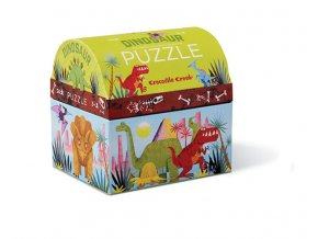 Mini puzzle chest - Dinosaur (24 pcs)