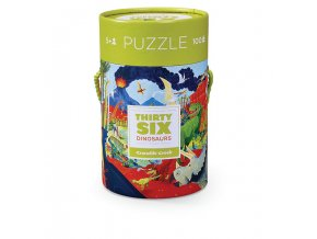 Puzzle Canister - 36 Dinosaurs (100 pcs)
