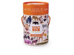 Puzzle Canister - 36 Wild Animals (100 pcs) / Puzzle tubus - 36 Divokých zvířat (100 ks)