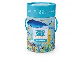 Puzzle Canister - 36 Ocean Animals (100 pcs) / Puzzle tubus - 36 Zvířat oceánu (100 ks)