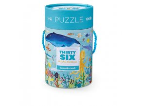 Puzzle Canister - 36 Ocean Animals (100 pcs)