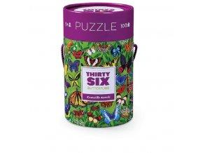 Puzzle Canister - 36 Butterflies (100 pcs) / Puzzle tubus - 36 Motýlů (100 ks)