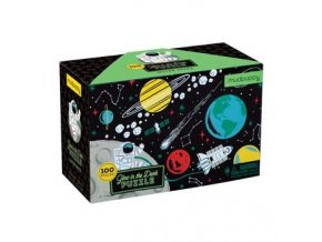 3444 glow in dark puzzle outer space vesmir