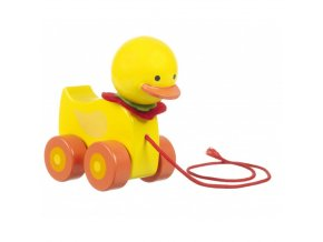 wooden duck pull along