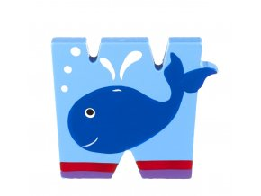 OTTW387 orange tree toys wooden letter w for whale 300x300
