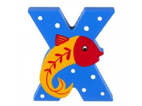 OTTX394 orange tree toys wooden letter x for xray fish