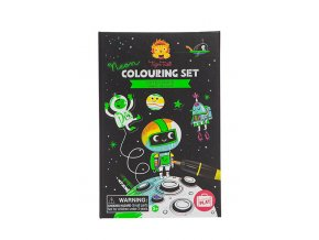 Neon Colouring Sets - Outer Space
