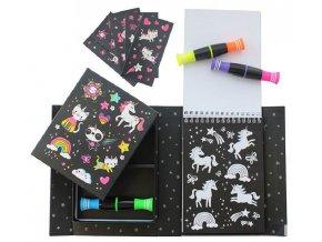 Neon Colouring Sets - Unicorn & Friend
