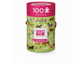 Puzzle Canister - 36 Horses (100 pcs)