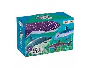 Foil Puzzle - Sharks (100 pcs)