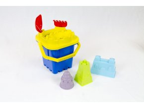 Castle bucket set + castle sand moulds - 7 pcs