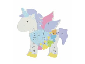 NUMBER PUZZLE UNICORN