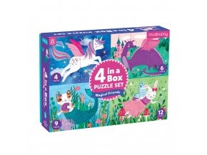 Puzzle Set 4 in a Box - Magical Friends