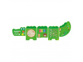ses 50346 viga wooden crocodile wall game green 1509473263