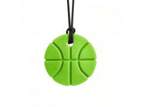 BASKETBALL žvýkací přívěšek XT Světle zelená