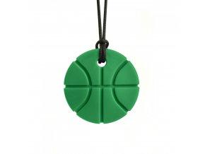 BASKETBALL žvýkací přívěšek XXTTmavě zelená