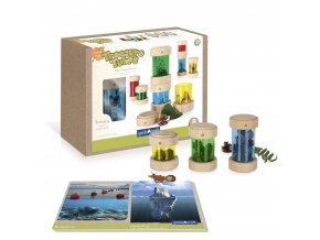 Treasure tubes primary / Dózy na poklady barevné
