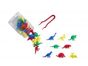 Dinosaur counters jar 32PC / Třídicí set dinosauři 32ks