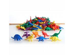 Dinosaur counters (128 pc) / Třídící dinosauři /sáček/ (128 ks)