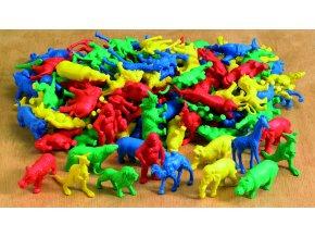 Wild animal counters (120 pc) / Třídicí divoké zvířata /sáček/ ( 120 ks)