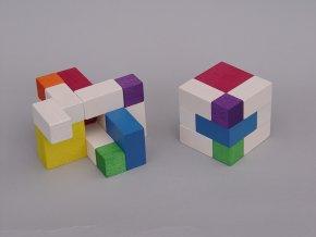 Puzzle kostky - 6x6 - Bauhaus design