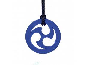 NINJA STAR žvýkací přívěšek Soft Tmavě modrá
