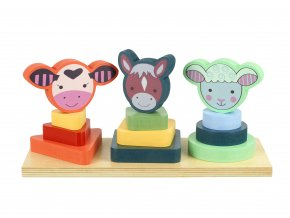 Farm Animals Shape Stacker