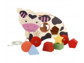 Cow Pull Along Shape Sorter