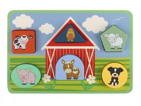 Farm Animals Shape Puzzle