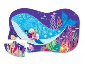 12927 1 mini puzzle velryba 12 ks mini puzzle whale wonder 12 pc