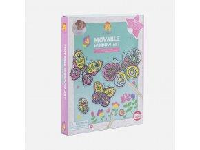 13059 1 movable window art butterflies