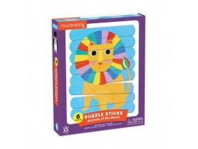 13104 2 puzzle sticks animals of the world