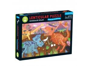 13128 puzzle lenticula rev dinosaura 75 ks 75 piece lenticula dinosaur roar