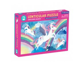 13131 puzzle lenticula jednorozec 75 ks 75 piece lenticula unicorn magic