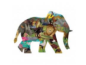 13134 tvarovane puzzle africke safari 300 ks shaped puzzle african safari 300 pc